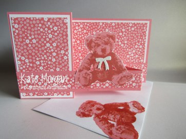 Baby Bear Double Z fold Card #stampinup Cards by Kate @cardsbykate @cardsbykatemorgan DIY