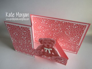 Baby Bear Double Z fold Card, #stampinup, Cards by Kate @cardsbykate @cardsbykatemorgan DIY