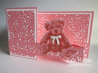 Baby Bear Double Z fold Card, #stampinup, Cards by Kate, @cardsbykate @cardsbykatemorgan DIY