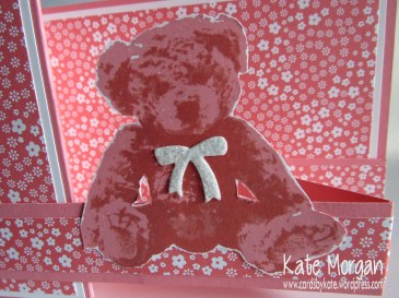 Baby Bear Double Z fold Card, #stampinup, Cards by Kate, @cardsbykate @cardsbykatemorgan, DIY