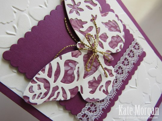Blooms & Bliss Bold Butterfly Feminine handmade card #stampinup, @cardsbykate