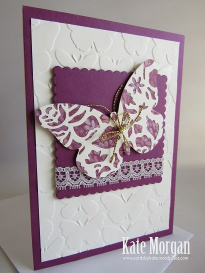 Blooms & Bliss Bold Butterfly Feminine handmade card #stampinup DIY @cardsbykate