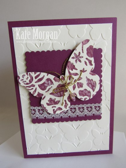 Blooms & Bliss Bold Butterfly Feminine handmade card #stampinup, DIY @cardsbykate