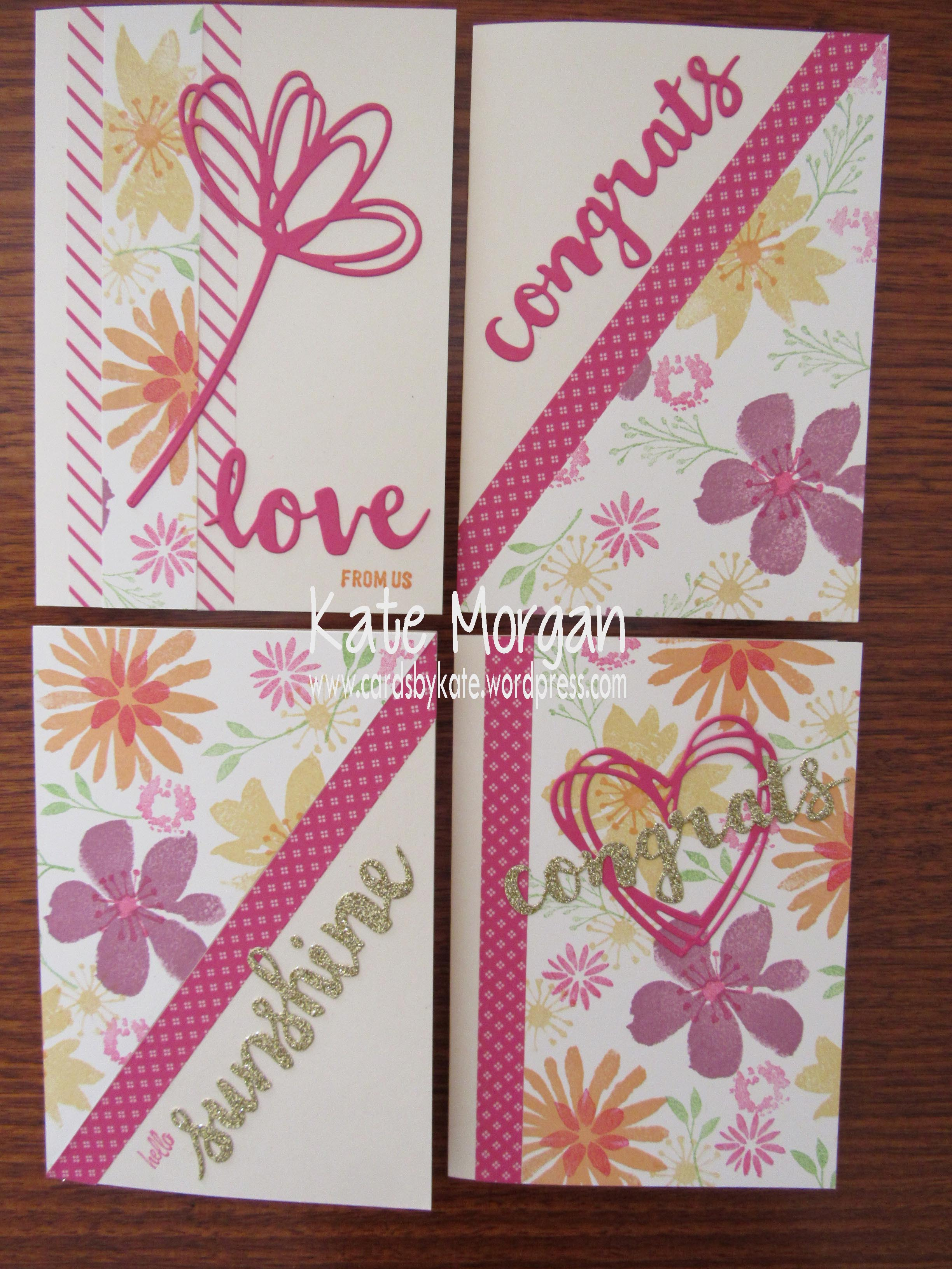 Blooms & Bliss OSW, Sunshine Wishes, Pop of Pink, DIY #stampinup