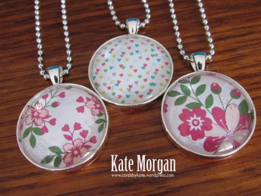 Designer Costume Jewellery Floral Necklaces #stampinup @cardsbykate DIY