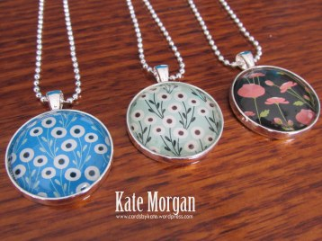 Designer Costume Jewellery Necklaces, #stampinup @cardsbykate DIY