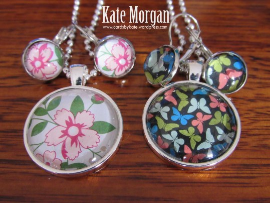 Floral & Butterfly Designer Costume Jewellery Necklace & Earring set #stampinup @cardsbykate DIY