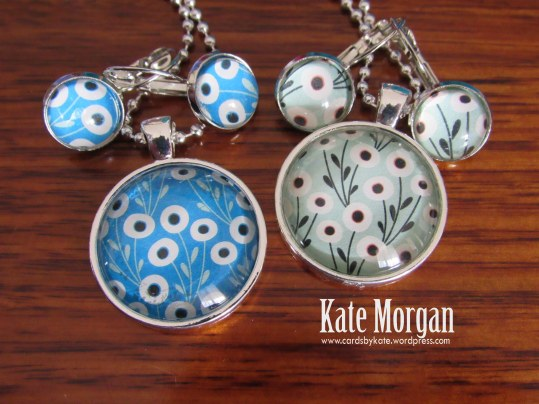 Floral Designer Costume Jewellery Necklace & Earrings set #stampinup @cardsbykate DIY