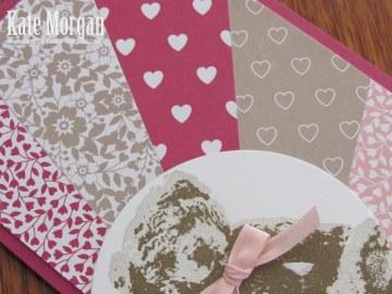 Love Blooms Baby Bear Sunburst Feminine handmade card #stampinup, @cardsbykate DIY