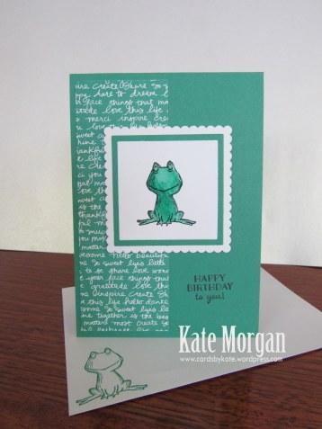 Love You Lots, Frog, Birthday Card, #stampinup, DIY, @cardsbykate