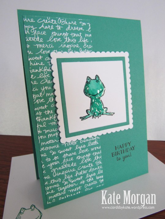 Love You Lots, Frog, Feminine Birthday Card, #stampinup, @cardsbykate