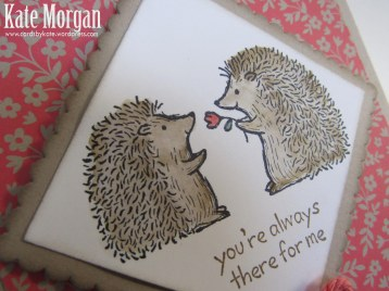 Love You Lots, Hedgehogs, Feminine Birthday Card, #stampinup, @cardsbykate, DIY