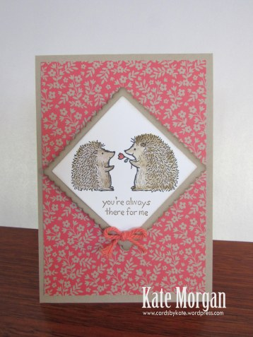 Love You Lots, Hedgehogs, Feminine Birthday Card, #stampinup, DIY, @cardsbykate