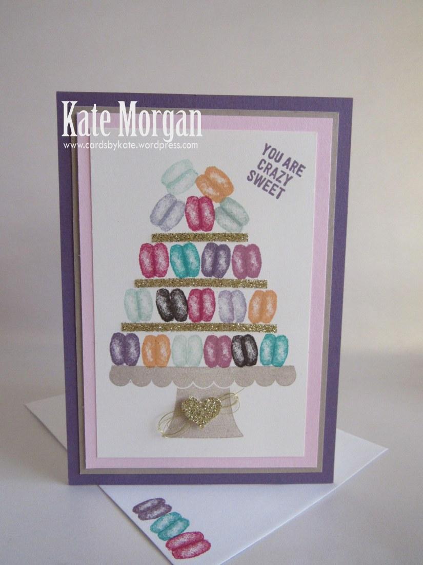 Macaron handmade card  Balloon Builders, #stampinup, DIY, @cardsbykate