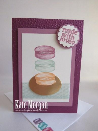 Macaron handmade card, Balloon Builders, #stampinup DIY @cardsbykate