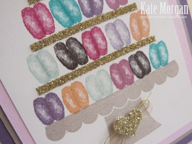 Macaron handmade card, Balloon Builders, #stampinup, DIY, @cardsbykate