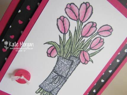 Pop of Pink, Love is Kindness, Tulips Handmade card Wink of Stella #stampinup @cardsbykate