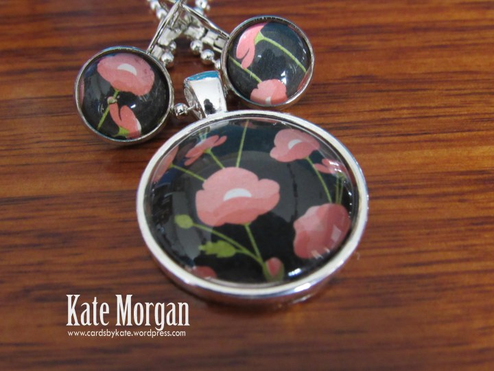 Pretty Petals Poppy Designer Costume Jewellery Necklace & Earring set #stampinup @cardsbykate DIY
