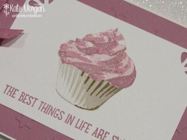 Cards by Kate, Sweet Cupcake, Pink Frosting, DIY #stampinup, @cardsbykatemorgan, Feminine