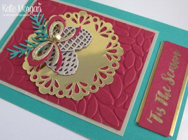 Christmas Pines, Metallic Tis the Season #stampinup Holiday Catalogue 2016 @cardsbykate DIY Handmade Card