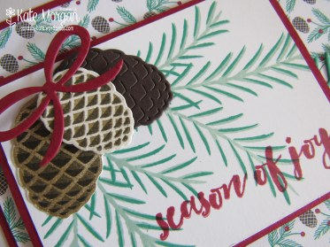 Christmas Pines, Presents & Pinecones DSP #stampinup Holiday Catalogue 2016 @cardsbykate DIY Handmade Christmas Card