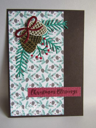 Christmas Pines, Presents & Pinecones DSP #stampinup Holiday Catalogue 2016 @cardsbykate DIY