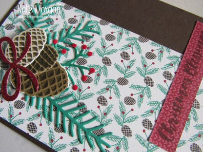 Christmas Pines, Presents & Pinecones DSP, #stampinup Holiday Catalogue 2016, @cardsbykate DIY