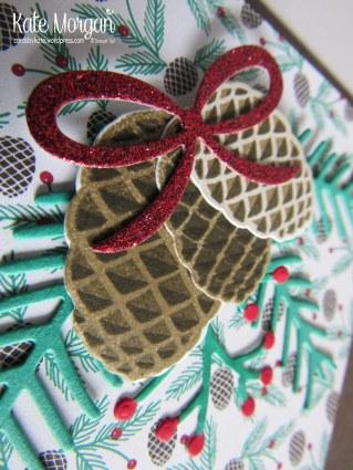 Christmas Pines Presents & Pinecones DSP #stampinup Holiday Catalogue 2016 @cardsbykate DIY