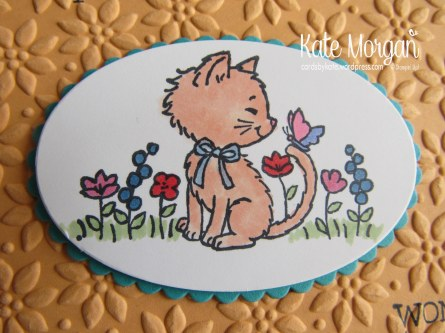 Pretty Kitty & Little Numbers, Handmade Birthday Card 7 Copic, Ovals Framelits  #stampinup @CardsbyKate DIY