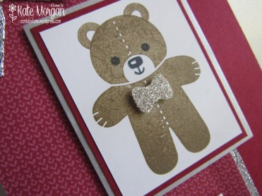 Teddy Bear Cookie Cutter Christmas, #stampinup Holiday Catalogue 2016, @cardsbykate DIY