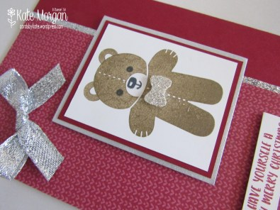 Teddy Bear Cookie Cutter Christmas #stampinup Holiday Catalogue 2016, @cardsbykate DIY