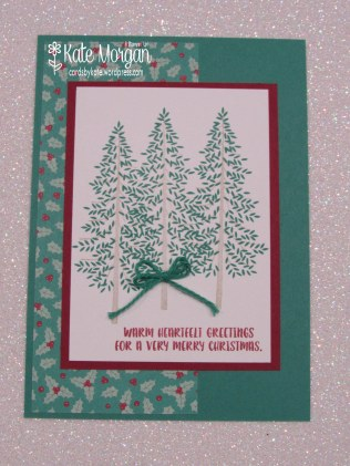 Thoughtful Branches Christmas card, Presents & Pinecones DSP #stampinup DIY @cardsbykatemorgan