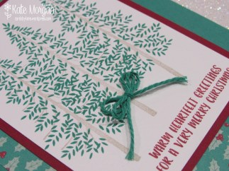 Thoughtful Branches Christmas card, Presents & Pinecones DSP, #stampinup DIY @cardsbykatemorgan