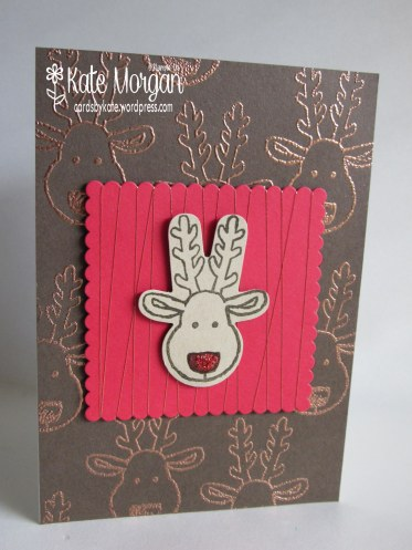 Cards by Kate, Cookie Cutter Reindeer, Copper, #stampinup Holiday Catalogue 2016 DIY @cardsbykatemorgan