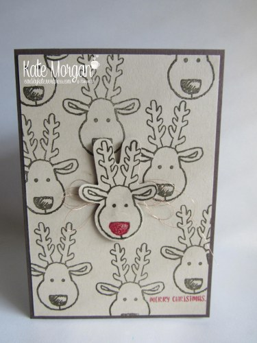 Cards by Kate, Cookie Cutter Reindeer #stampinup Holiday Catalogue 2016, DIY @cardsbykatemorgan