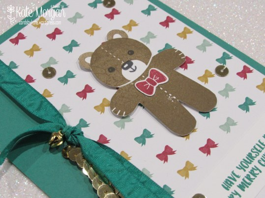 Cards by Kate, Cookie Cutter Teddy Bear #stampinup Holiday Catalogue 2016 DIY @cardsbykatemorgan