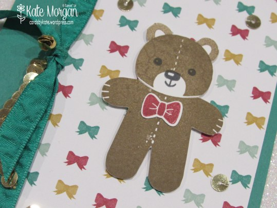 Cards by Kate, Cookie Cutter Teddy Bear #stampinup Holiday Christmas Catalogue 2016 DIY @cardsbykatemorgan