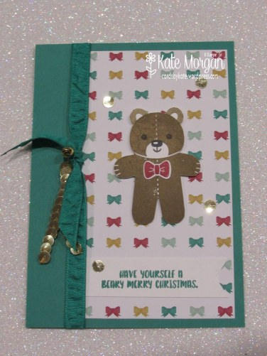 Cards by Kate, Cookie Cutter Teddy, Beary Christmas, #stampinup Holiday Catalogue 2016 DIY @cardsbykatemorgan