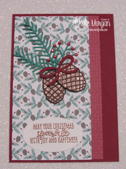 Christmas Pines, Presents & Pinecones DSP, Copper, #stampinup Holiday Catalogue 2016, DIY, @cardsbykate