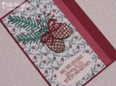 Christmas Pines, Presents & Pinecones DSP #stampinup Holiday Catalogue 2016, Copper, DIY @cardsbykate