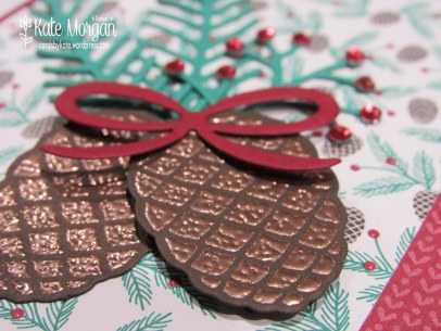 Christmas Pines, Presents & Pinecones DSP #stampinup Holiday Catalogue 2016, DIY @cardsbykate