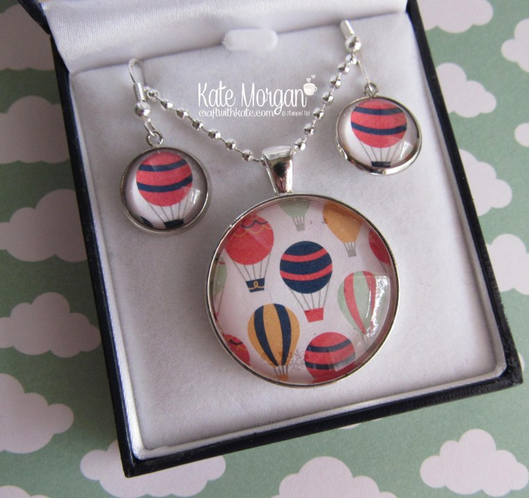 necklace-earring-set-using-stampin-up-carried-away-dsp-by-kate-morgan-independent-demonstrator-melbourne-saleabration-2017