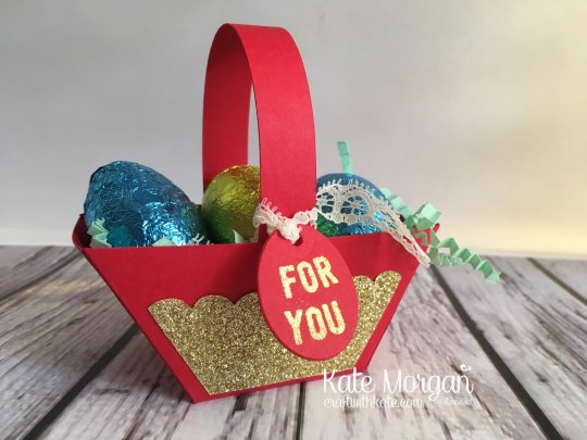 Easter Treat Basket using Stampin Ups Window Box thinlits & Any Occasion stamp set by Kate Morgan Independent Stampin Up Demonstrator Australia 3D DIY Occasions 2017 Saleabration 2017