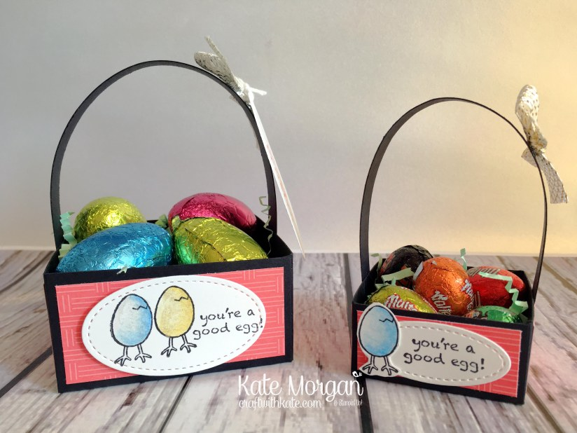 Easter Treat Baskets using Stampin Ups Hey Chick stamp set by Kate Morgan Independent Stampin Up Demonstrator Australia 3D DIY.JPG