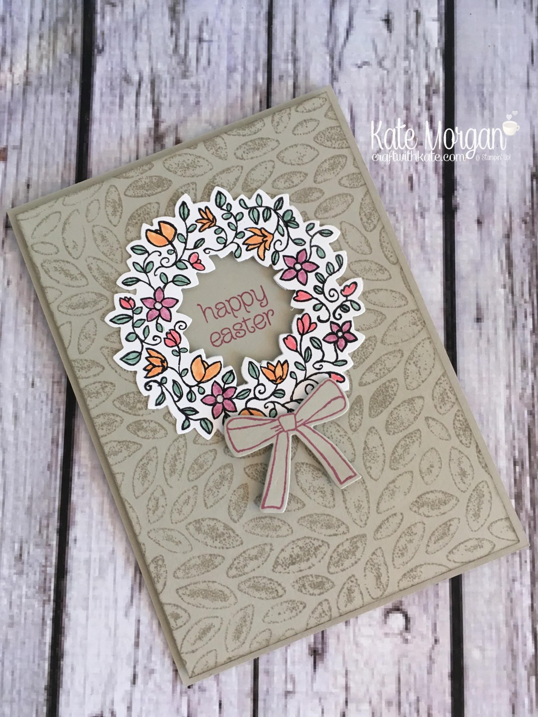 Happy Easter card using Stampin' Ups Circle of Spring by Kate Morgan, Independent Demonstrator Australia. Occasions 2017 3D DIY