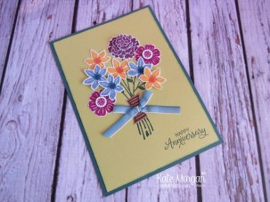 Beautiful Bouquet stamp set, Ombre Ribbon by Kate Morgan, Independent Stampin Up Demonstrator Australia lots of fussy cutting!