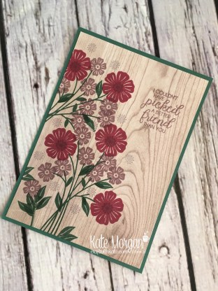 Beautiful Bouquet stamp set with Wood Textures DSP by Kate Morgan, Independent Stampin Up Demonstrator Australia