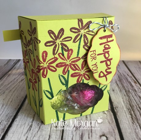 Easter Gift using Stampin' Ups Paint Play Stamp Set & Pretty Label Punch by Kate Morgan, Independent Stampin Up Demonstrator Australia