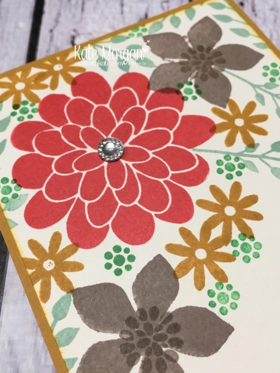 Flower Patch & 2015-2017 Retiring In Colours by Kate Morgan, Independent Stampin Up Demonstrator Australia closeup