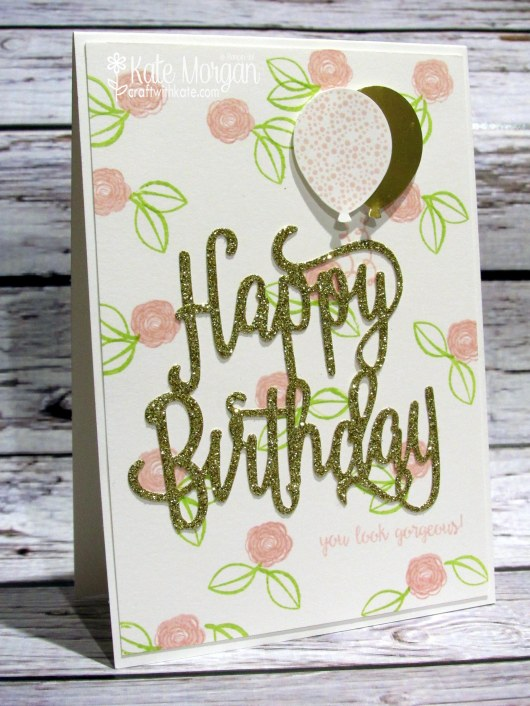 Happy Birthday Gorgeous by Kate Morgan, Independent Stampin' Up! Demonstrator Australia JAI Challenges copy